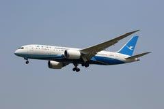 Aéroport de Pékin d'avion de Boeing 787-8 Dreamliner d'air de Xiamen Photos stock