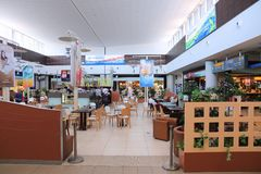 Aéroport de Paphos, Chypre Photos libres de droits