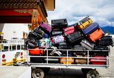 Aéroport de Paro à Thimphou, Bhutan Photos libres de droits
