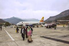 Aéroport de Paro, Bhutan Photos libres de droits