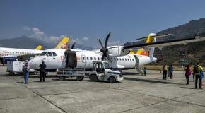 Aéroport de Paro, Bhutan Photographie stock libre de droits
