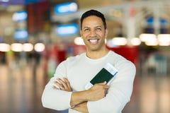 Aéroport de passeport d'homme Image libre de droits
