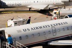 Aéroport de PHX Avions d'US Airways sur la rampe Photo libre de droits