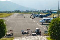 Aéroport de Pokhara au Népal Image libre de droits