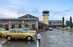 Aéroport de Pokhara, Népal Photo libre de droits