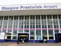 Aéroport de prestwick de Glasgow, Angleterre Image stock