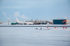 Aéroport de Prudhoe Bay Photo libre de droits