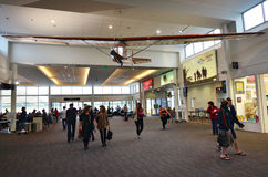 Aéroport de Queenstown - Nouvelle-Zélande Image libre de droits