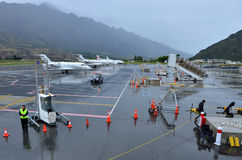 Aéroport de Queenstown - Nouvelle-Zélande Photo stock