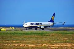 Aéroport de Ryanair Alicante Photo libre de droits