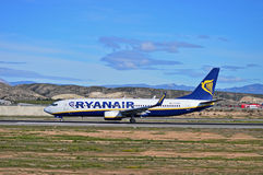Aéroport de Ryanair Alicante Photographie stock