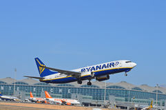 Aéroport de Ryanair - d'Alicante Photo libre de droits