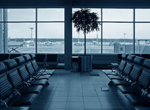 Aéroport de salle d'attente Photos libres de droits