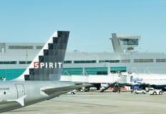 Aéroport de San Antonio - avions sur la rampe Photographie stock