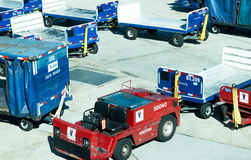 Aéroport de San Antonio - avions sur la rampe Image stock