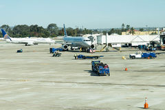 Aéroport de San Antonio - avions sur la rampe Photos libres de droits