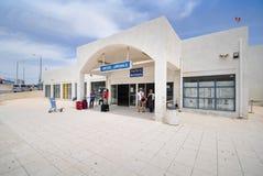 Aéroport de Santorini, Grèce Photos libres de droits