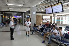 Aéroport de Sao Paulo Images libres de droits