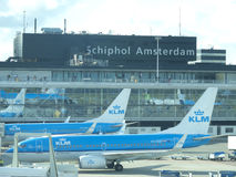 Aéroport de Schiphol, Amsterdam, Hollandes. Photographie stock