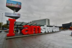Aéroport de Schiphol amsterdam netherlands Images libres de droits