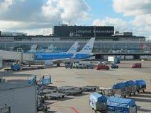 Aéroport de Schiphol, Amsterdam, Pays-Bas. Images stock
