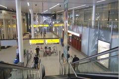 Aéroport de Schiphol, Amsterdam, Pays-Bas. Photos libres de droits