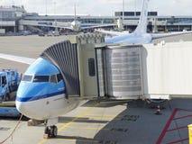 Aéroport de Schiphol, Amsterdam, Pays-Bas. Photos stock