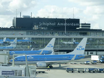 Aéroport de Schiphol, Amsterdam, Pays-Bas Photo stock