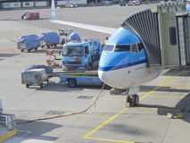 Aéroport de Schiphol, Amsterdam, Pays-Bas Photos stock