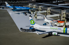 Aéroport de Schiphol - Madurodam, la Haye, Pays-Bas Photos stock