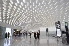 Aéroport de Shenzhen, signes de l'information Photographie stock