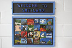 Aéroport de Shetland Photographie stock