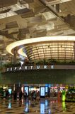 Aéroport de Singapour - déviation Hall du terminal trois Image libre de droits