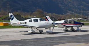 Aéroport de Sion Photographie stock libre de droits