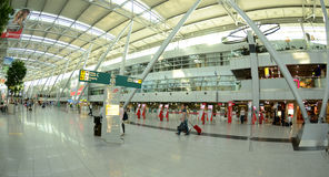 Aéroport de sseldorf de ¼ de DÃ - signez Images stock