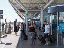 Aéroport de Stansted à Londres, R-U Images stock