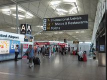 Aéroport de Stansted à Londres, R-U Photographie stock