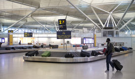 Aéroport de Stansted, refuge de bagage Photo libre de droits