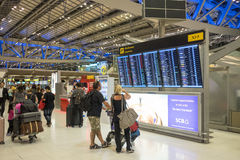 Aéroport de Suvarnabhumi, Bangkok Photos libres de droits