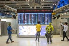Aéroport de Suvarnabhumi, Bangkok Photographie stock