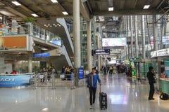 Aéroport de Suvarnabhumi, Bangkok, Thaïlande Image libre de droits