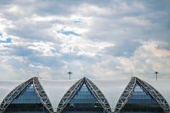 Aéroport de Suvarnabhumi : Détail de peau de bâtiment Images libres de droits