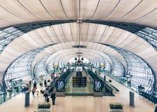 Aéroport de Suwarnabhumi à l'intérieur Photo stock