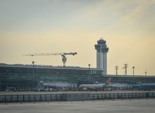 Aéroport de Tan Son Nhat dans Saigon, Vietnam Image libre de droits