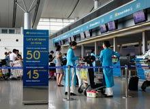 Aéroport de Tan Son Nhat dans Saigon, Vietnam Images libres de droits