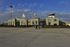 Aéroport de Tengchong, Chine Image stock