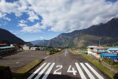 Aéroport de Tenzing-Hillary dans Lukla Photos libres de droits