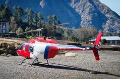 Aéroport de Tenzing-Hillary dans Lukla, Népal Images stock
