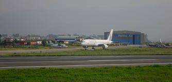 Aéroport de Tribhuvan à Katmandou, Népal Photos libres de droits