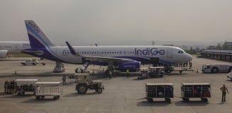 Aéroport de Tribhuvan à Katmandou, Népal Image libre de droits